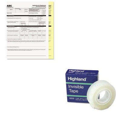 KITMMM6200341296PMC59101 - Value Kit - Pm Company Digital Carbonless Paper (PMC59101) and Highland Invisible Permanent Mending Tape (MMM6200341296) by PM Company