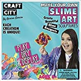 Craft City Karina Garcia Make Your Own Slime Art Sculptures Kit | Borax Free | Non-Toxic | 4 colors | 3 oz of each | DIY | Create Your Own Slime Art | Includes Glitter, Beads & Styrofoam bead add-ins