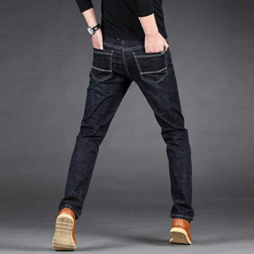 Slim Ssig Stretch Da Retrò Lavoro Adelina Diritti Uomo Abbigliamento Nero Jeans Pantaloni xwRqCnXzT