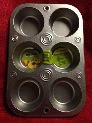 6 Cup Muffin Cooking Pan Heavyweight Steel Bakeware Baking Muffins & Cupcakes