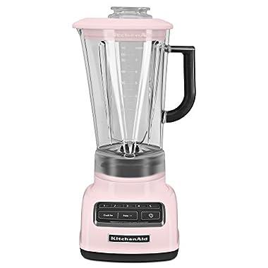 KitchenAid KSB1575PK 5-Speed Diamond Blender with 60-Ounce BPA-Free Pitcher - Pink