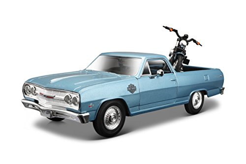 Maisto Harley-Davidson 2007 XL 1200N Nightster & 1965 Chevy El Camino Diecast Vehicle (1:24 (El Camino Die Cast)