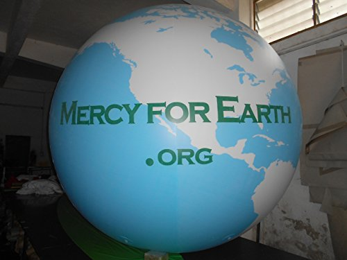Air-Ads 6ft Giant Inflatable Globe Map World Balloon NO FLYING Landing Balloon/Free Logo (PVC) by Air-Ads Supplies