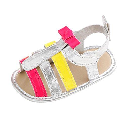 Igemy 1Paar Kleinkind Mädchen Krippe Schuhe Neugeborene Blume Soft Sohle Anti-Rutsch Baby Sneakers Sandalen