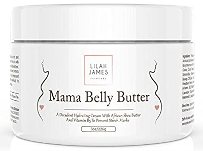 Belly Butter 8oz- Organic Decadent Cream Helps Prevent Stretch Marks, Relieves Itching, And Hydrates Skin During Pregnancy
