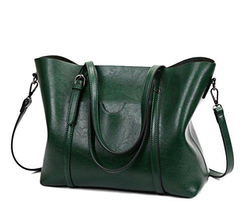 LQQAZY Borsa A Mano Donna Retrò Messenger Bag Europa E America Green