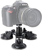 Soporte de Ventosa para cámara réflex Digital de Triple Copa + ...