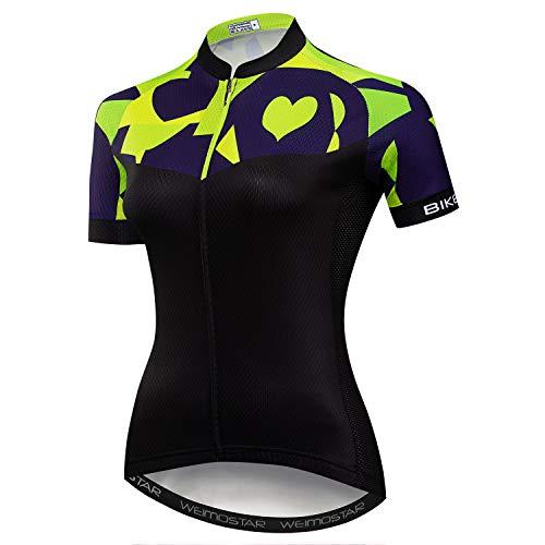 Wielertrui Vrouwen Mountainbike Shirts Korte Mouw Road Fiets Cothing MTB Tops