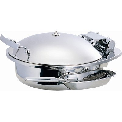 Porcelain Round Chafing Dish - Smart Buffet Ware 1A15300 SMART Large Round Chafing Dish with Stainless Steel Lid