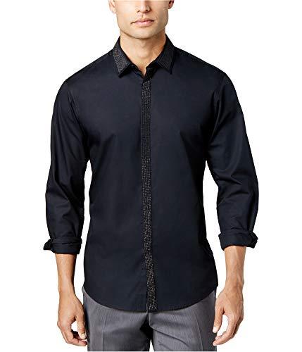 INC International Concepts I.N.C. Men's Shine Shirt (Black, XL) from INC International Concepts