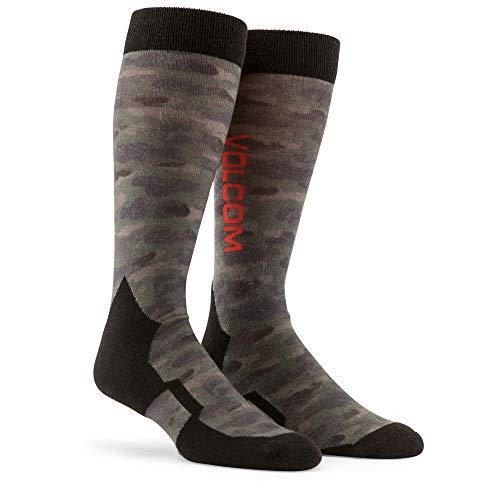 (Volcom Men's Lodge Heavy Weight Snow Sock, camouflage, Small/Medium)