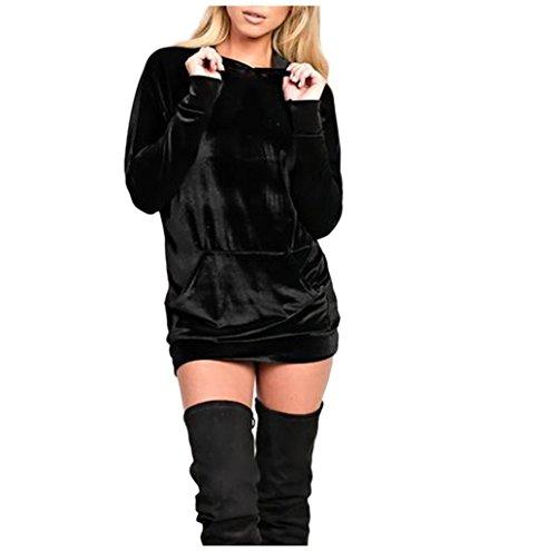 Buy belted black sweater dress - 9