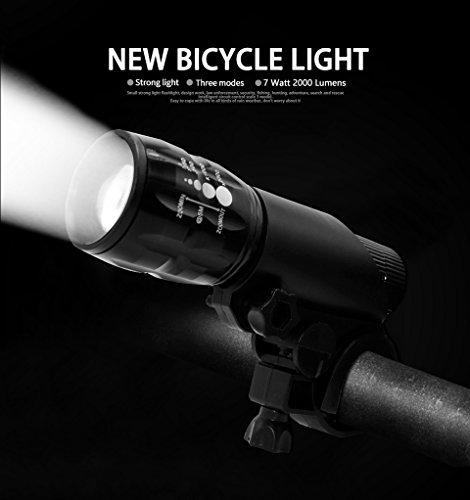 2000 Lumens Q5 Bicycle Light LED Bike Front Waterproof Lamp+ Holder - 6