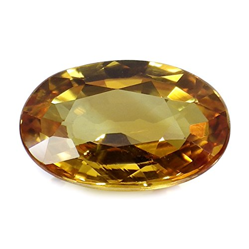 2.46 Ct. Beautiful Color Natural Oval Yellow Sapphire Thailand Loose Gemstone ()