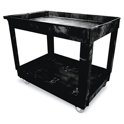 Bla 2 Shelf Utility Cart (RCP9T67BLA - Rubbermaid Black Heavy-Duty 2 Shelf Utility Cart)