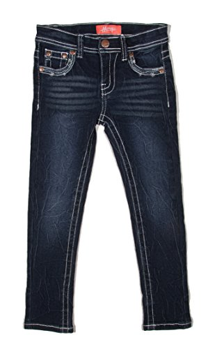 Old Navy Classic Rise (8H013(S) - Super Stretch 5 Pockets Skinny Jeans for Girls in Washed Dark Blue Size)