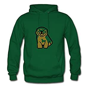 Golden Retriever Puppy Designed Women Style Personality Hoody - X-large - Electric Green