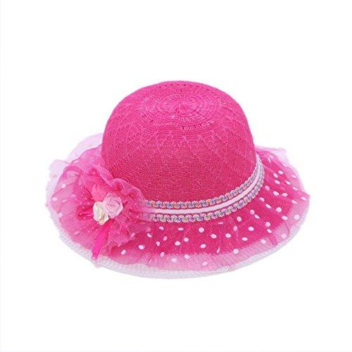 Mazo Summer Fashion Baby Girl Half a Flanging Straw Hat Beach Sun Cap