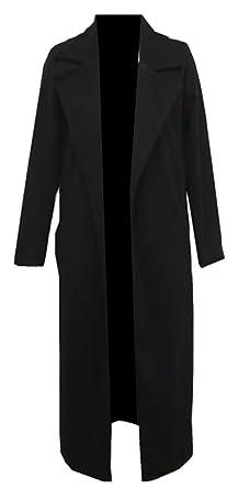 5fb704f5977 CBTLVSN Women s Wool Blend Lapel Camel Solid Long Outwear Trench Coat Jacket  Back XXS