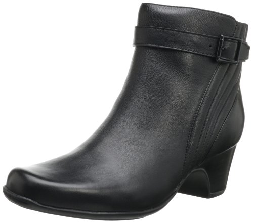 Scale Leather Bootie Leyden Clarks Black Women's vFSqnwg