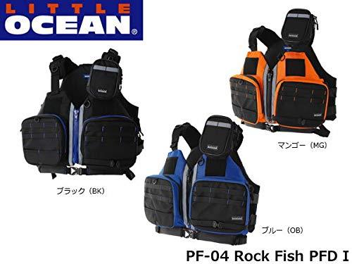 リトルプレゼンツ(LITTLE PRESENTS) ロックフィッシュPFDⅠ PF-04 フリー ブラック&ブルー B00HRQMGT8