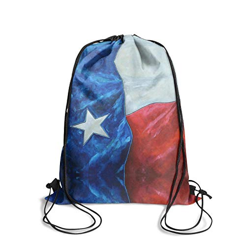 ZKGOD Cool USA Texas Flag Crazy Vintage Adjustable Drawstring Bag for Hiking Yoga Gym Travel Beach School