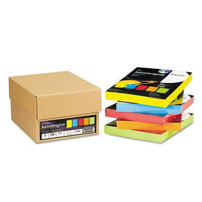 Astrobrights Colored Paper, 24lb, 8-1/2 x 11, 5 Assorted, 1250 Sheets/Carton, Sold as 5 Package