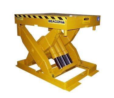 Beacon-BMLT-Series-Heavy-Capacity-Scissor-Lift-Table-Travel-30-Cap-Lbs-18000-Edge-Load-Rolling-16000-Platform-Standard-48-x-60-Platform-Maximum-72-x-84-Base-48-x-60-Lowered-Height-inches-16-Raised-Hei