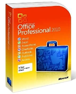 Microsoft Office Professional 2010 For 2PC/1User 1Year (Disc Version)