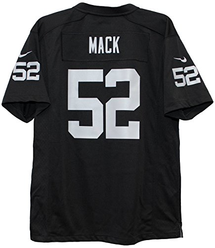 Nike NFL Oakland Raiders Khalil Mack Youth Game Home Football Jersey
