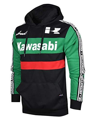 SCREENSHOTBRAND-F11860 Mens Urban Hip Hop Premium Fleece Hoodie - Pullover Long Sleeves Activewear Street Fashion Color Block -Black-Small from SCREENSHOT