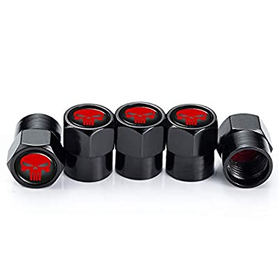 PATWAY 5 Pcs Skull Car Wheel Tire Valve Stem Caps for Jeep Toyota Honda BMW Ford Chevrolet Nissan Subaru VW Mustang Corvette Volvo Logo Styling Decoration Accessories.: Automotive