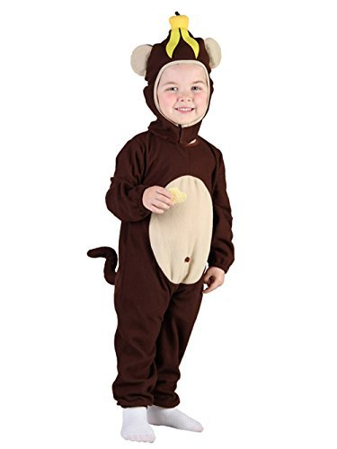 Glossy Look Little Boys' Monkey Fancy Dress Party World Book Day Costume Toddler 2-4 Years Brown