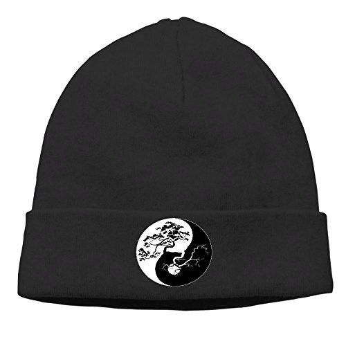 Raining Sunlight Unisex Cool Bonsai Tree Yin Yang Graphic Casual Flexible Winter Hats/Ski Cap/Beanie/Skully Hat Cap -