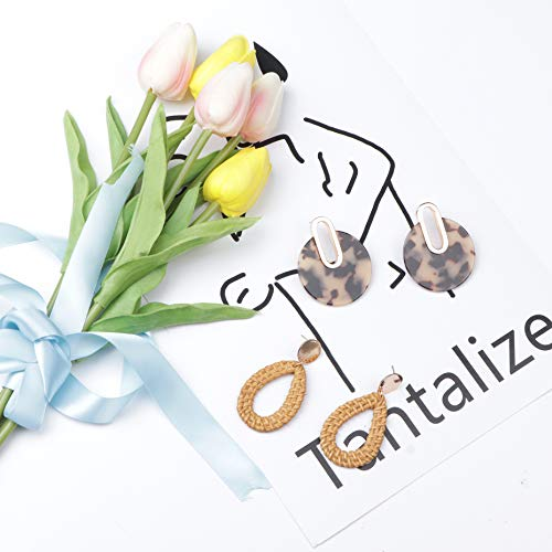 Amazon.com: SAILIMUE - 6 pares de pendientes colgantes de ...