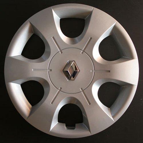 Wheeltrims Set de 4 embellecedores Renault Clio 3 / Scenic 2 / Megane 2 / Megane 3 / Modus/Laguna 2 / Laguna 3 / Espace 4 / Vel Satis/Twingo 2 / Kangoo 2 ...
