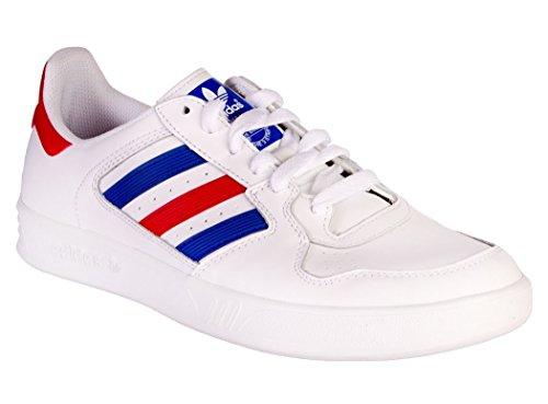 adidas Originals Tennis Court Top Vintage Sneaker Sport Schuhe Weiss Rot Blau Weiß