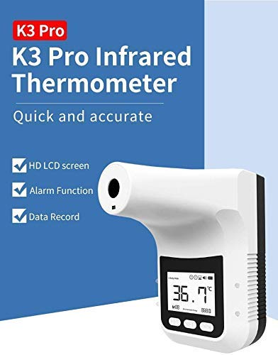 K3 pro Non-Contact Digital Thermometer, Infrared Thermometer,Wall-Mounted Infrared Forehead Thermometer, Fever Alarm for Factories, Shops, Restaurants, Rail Station Entrances, School Office