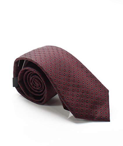 Alfani Mens Parker Silk Polka Dot Neck Tie Red -