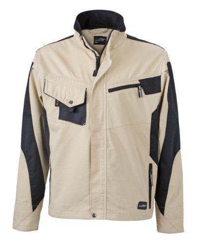 James & Nicholson, Messieurs, Workwear Jacket Cordura Stone