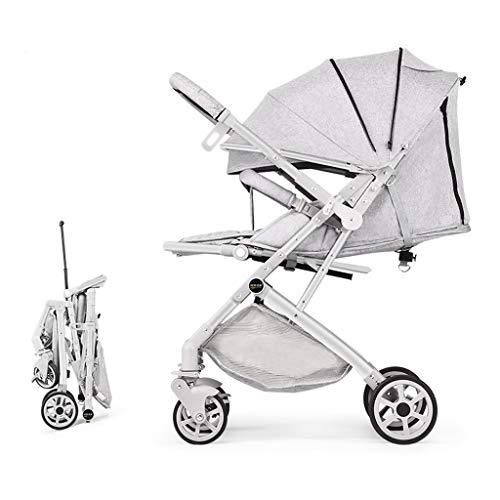 Children's Stroller Light Portable Folding Can Sit Lie Children Children Simple Umbrella Summer (Color : 2)