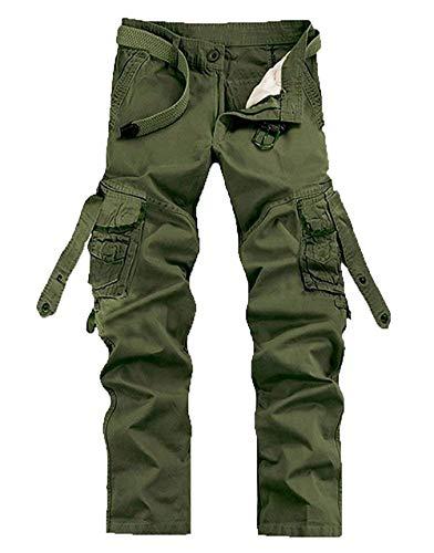 Sportivi Lavoro Pantaloni Grün Multiuso Adelina Da Uomo Retrò Abbigliamento Cargo Casual 4wSxAngqU