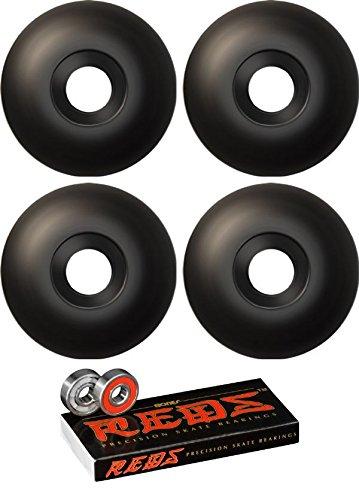指標スキル来て51 mm Essentials Wheels with Bones Bearings – 8 mm Bones Reds Precisionスケート定格ベアリング – 2アイテムのバンドル