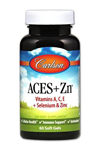 Carlson ACES + Zn, Selenium & Vitamins A C E, Zinc, 60 Soft Gels
