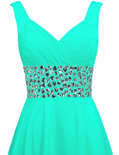 Short Dresses Mint Cocktail Women's Straps ANTS Party Chiffon Crystal w64Snvxqg