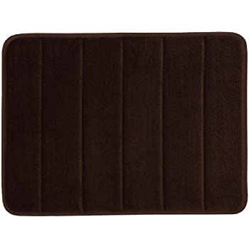 WPMS Incredibly Soft and Absorbent Memory Foam Bath Mat, 17 By 24-inch (Brown)