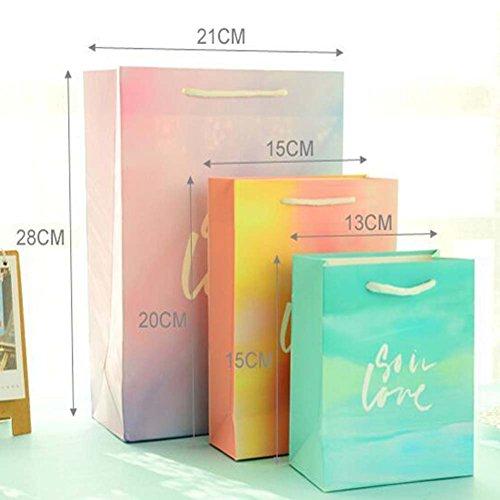 Set von 8 Papiertüten Geschenk-Taschen britischen Malerei Einkaufstaschen Jl5MGI0Z