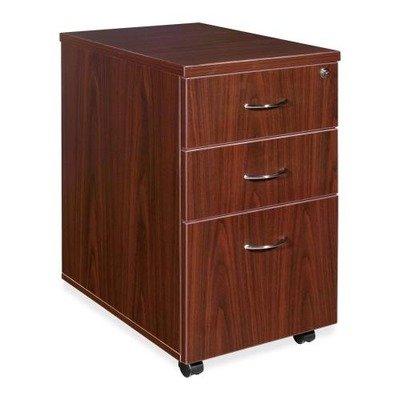 Lorell Essentials Pedestal - 16quot; Width x 22quot; Depth x 28.3quot; Height - 3 x Box, File Drawer(s) - Laminate, Mahogany