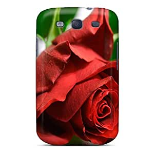 Tpu Case Cover Compatible For Galaxy S3/ Hot Case/ Rose Flower Wallpaper Free 90