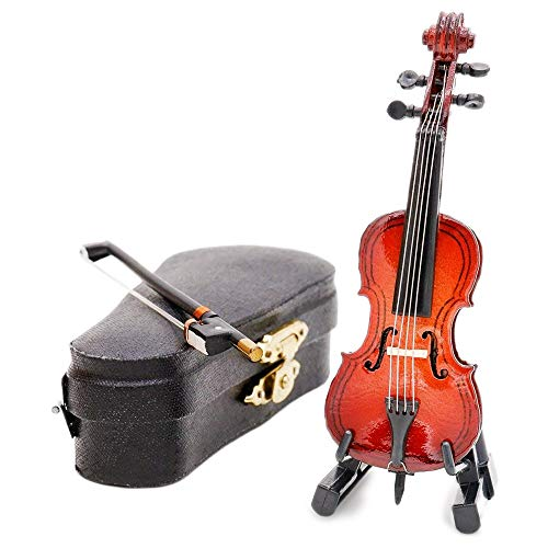 Odoria 1:12 Cello with Bow, Stand & Case Wooden Musical Instrument Miniaure Dollhouse ()